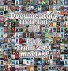 Documentary DVD Lot #1: DISC ONLY - Pick Items to Bundle and Save!