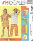 McCall's 9189 Tween Girls' Shirt, Pants, Shorts, Skort and Hat Sewing Pattern