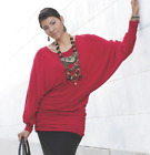 Ashro Aleigh Tunic NEW size 3X PLUS Top Blouse Red