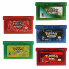 POKEMON GAMES GBA FIRE RED, LEAF GREEN, EMERALD, RUBY, SAPPHIRE- US seller/Ship