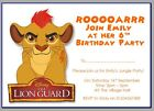 personalised paper card party invites invitations DISNEY LION GUARD KING JUNGLE