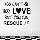 Love Rescue Dog Wall Art Sticker Decal Vet Grooming Adoption Pup