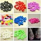 20pcs Soft Dog Pet Nail Caps Cover Puppy Paw Claw Grooming 4 Sizes +1 Glue