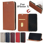 Luxury Flip Cover Wallet Card Leather magnetic Phone Case Stand for iPhone 8 XCA
