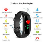 KALOAD Touch LCD Smart Bracelet Dymanic Heart Rate Blood Pressure Monitor IP67