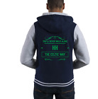 PERSONALISED FOOTBALL URBAN HOODIE Choose your own message and letter on front