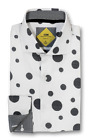 Sport Shirt by SL Trim&Classic Fit Round Convertible Cuff-White/Blk-TS1710-WH
