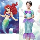 Princess Ariel Little Mermaid Costume Outfit Fancy Dress Up Girls Child 3-10Y UK