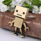 Vintage Robot Model Metal Keyrings Handbags Mini Keyfob Keychain Bag Charm Gifts
