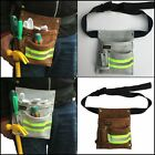 Reflective Genuine Leather Tool Bag for Roofers Maintenance Construction Workers