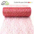 5 yards wire tissue sheer gauze element tulle roll for tutu bow events party 8A