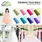 15cm*10 yards organza sheer tulle roll netting lace for toy dress wedding 935E