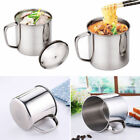 Stainless Steel D Shape Handle Cup Coffee Water Mug Travel Camping Cup Hot
