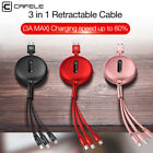 3 in 1 Multi Lighting Type C Cable Micro USB Data Sync Fast Charging Charger