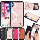 10pcs/lot Single Buckle Mirror Bracket Card Leather Case For iPhone6/6P/7/7P/X