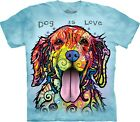 Dog Is Love Animal T Shirt Adult Unisex The Mountain