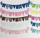8 Card Pennant Party Banner Silhouette Cardstock Die cut Embellishment Scrapbook