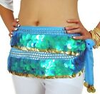 sale! HAND MADE BELLY DANCE BELTS HIP SCARF LIKE FISH SCALES 999