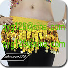 sale! HAND MADE BELLY DANCE HIP SCARF GOLD COINS 888