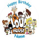 "THE LOUD HOUSE ROUND 7.5"" CAKE TOPPER ICING OR RICEPAPER"