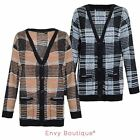 Brave Soul Ladies Womens Button Up Stripe Cable Knit Boyfriend Knitted Cardigan