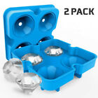 Silicone Ice Cube Mold Trays Lids Chocolate Candy Whiskey Ice Cube Molds