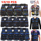 20pc Tactical Vest Kids Toy Gun Clip Jacket Foam Bullet Holder For Nerf N-strike
