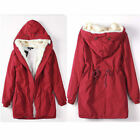 WOMENS WINTER WARM THICK FLEECE FAUX FUR COAT JACKET PARKA HOODED TRENCH OUTWEAR <br/> Ship World Wide, Slim Fit, Fleece Inside, Winter Coat