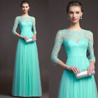 2018 Cocktail Evening Party Laces Hollow Long Dress Formal Prom Gown Bridesmaid