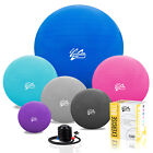 Exercise Yoga Ball Gym Swiss Pregnancy Birthing Anti-Burst 65cm 2000lbs inc Pump