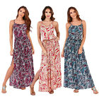 Pistachio Womens Designer Cotton Paisley Print Full Length Strappy Maxi Dress