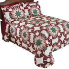 Aurora Star Geometric Patchwork Bedspread, by Collections Etc image