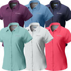 """New Womens Columbia """"Meadowgate"""" Omni-Shade Vented Short Sleeve Shirt Plus Size"""