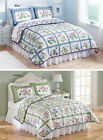 Summer Breeze Floral Lattice Reversible Lightweight Quilt, by Collections Etc image