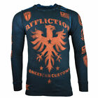 AFFLICTION Men's Long Sleeve Thermal - Thermo - Reversible - US Flag - Reg. $68