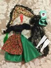 VTG BARBIE CLOTHS LOT,SPANISH SEÑORITA OUTFIT TIARA SOCKS,SHOES,SHAWL,MINT