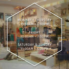 apple store durham hours - Store Hours Sign Vinyl Decal Business Open Daily Salon Modern Hexagon Simple
