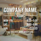 waterford lakes store hours - Company Hours Decal Vinyl Sign Business Salon Store Bar Dr Restaurant Simple