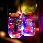 Solar LEDS Fairy Light Solar Mason Jar Lid Lights Color Garden Yard Decor DIY US