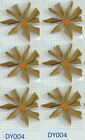 Broken China Mosaic Tiles, Flower Daisy 9 COLOR Variations, 6 Flowers in One Set