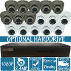 HIWATCH 16CH 1080P 16 GREY WHITE Home Security CCTV Camera System Dome Night Kit