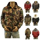 Men's Windbreaker Hoodie Camo Biker Hiking Fishing Casual GYM Outdoor JACKET NEW