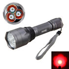 10000Lm 3x XPE Q5 Green Red LED Tactical Rifle Flashlight Hunting Torch Light