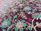 Embroidered French Lace, 'Rodez' Maroon (per metre) dress fabric, sewing