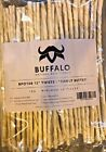 12'' Buffalo Rawhide Twists Natural Dog Treats Peanut butter flavoured chew