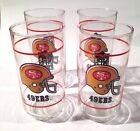 San Francisco 49'ers - Mobil - Vintage NFL collectible drink glass - Set of 4