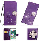 Bling Crystal Diamond Flip Leather Wallet Card Case Cover For Samsung Note 8 S9+