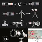 Universal 18X Zoom Phone External Lens Telephoto Telescope Camera Lens + Tripod