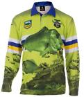 CANBERRA RAIDERS NRL ADULT LONG SLEEVE FISHING POLO SHIRT WITH COLLAR