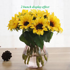 Artificial Sunflowers Artfen 6 Pcs Fake Sunflowers Preserved Flower Bouquet For